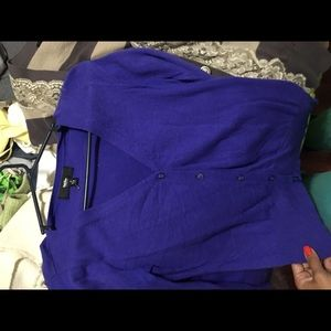Royal blue purple cardigan